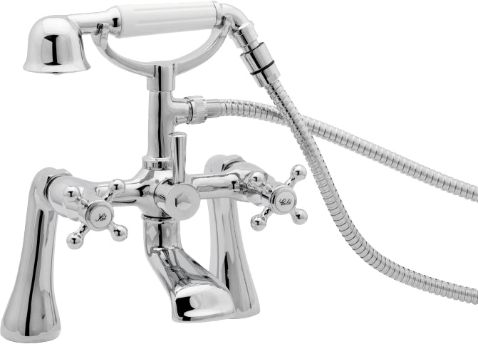 TUDOR PILLAR MOUNTED BATH SHOWER MIXER