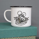 Alternative Wedding Gift - Skeleton Tattoo Design 'Til Death Do Us Part' Mug - Anniversary Or Valentine's