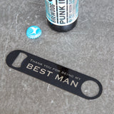 Thank You Gift For Wedding Party - Personalised Bar Blade Bottle Opener - Best Man Groomsman Gifts