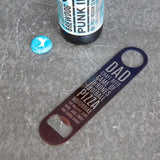 Dad's Favourite Things – Personalised Bar Blade Bottle Opener - Father's Day Gift