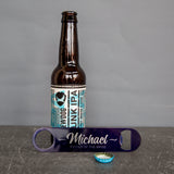 Father Of The Bride And Groomsman Gifts - Personalised Bar Blade Bottle Opener - Best Man Gift