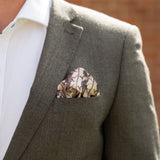 Hipster Gift - Peaky Blinders Horse Racing Inspired Pocket Square - Perfect For Men's Herringbone Suit
