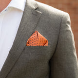 Gift For Cyclist - Bike Chain Patterned Pocket Square Personalised - Premium British Design For Dad Or Brother