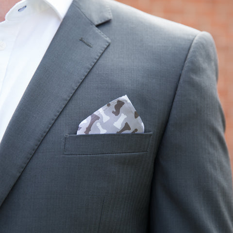 Unique Leaving Or Secret Santa Gift - Pocket Square With Chess Theme - For The King Of Men's Suiting