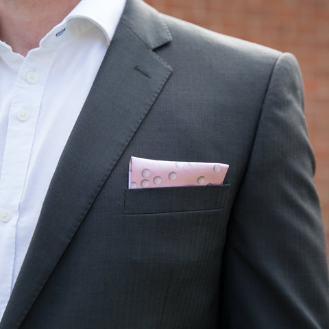 Menswear Personalised To His Sport - Golf Ball Themed Pocket Square - Gift For Golfer Or Stag Do