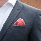 Funky Menswear Accessory - Tennis Racquet Patterned Personalised Pocket Square - Teamwear Club Wear