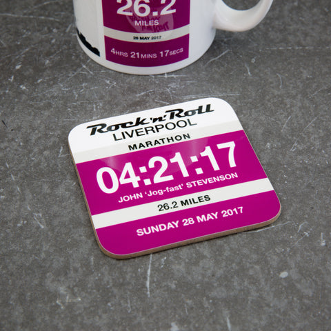 Liverpool Marathon Coaster - Commemorative gift finishers gift - Race number Design