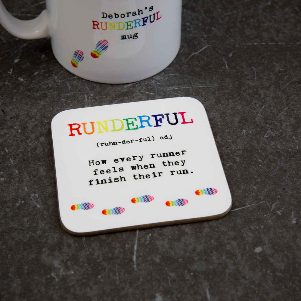 Gift For Runner - Runderful Definition Motivational Coaster - Secret Santa Present For Runner Under £5