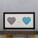Anniversary Of Wedding Gift - Vows Reading Speech From Wedding In Heart Design Personalised - For Her