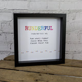 Motivational Runner Gift - Runderful Definition Print - Gift For Running Friend Or Training Partner