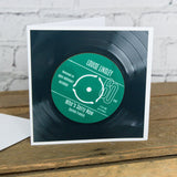 Personalised 60th Birthday Greetings Card Optional Coaster - With Number 1 Single Day Born Or Favourite Song