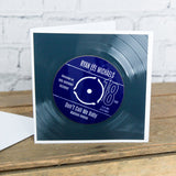 Personalised 18th Birthday Greetings Card Optional Coaster - With Number 1 Single Day Born Or Favourite Song
