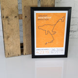 Manchester Marathon 2018 Print Framed Route Map Finishers Gift