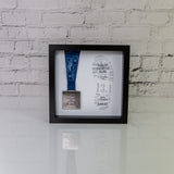 Running Medal Framed Display Gift - Personalised Race Result Print - Marathon Half 5K 10K Ultramarathon