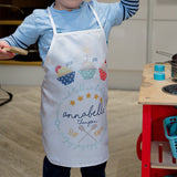Kids Apron Personalised - Star Baker Cupcake Themed - Ideal Gift For Toddler From Grandparent