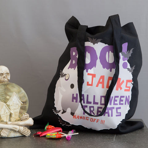Halloween Trick Or Treat Bag Personalised - Ghost Design - Children's Gift