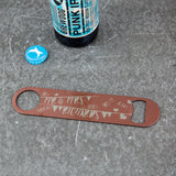 Bunting Wedding Gift - Vintage Themed Bottle Opener Bar Blade - Couple Present
