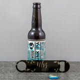 Unusual 4th Anniversary Gift - Botanicals Bar Blade Bottle Opener - Personalised For Wedding Party Gifts
