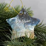 Custom Name Christmas Bauble - Star Sign Constellation Customised Decoration - Christmas Stocking Gift