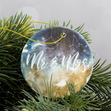 Christmas Gift For Newly Weds - Star Sign Constellation Custom Bauble Decoration - Anniversary Present
