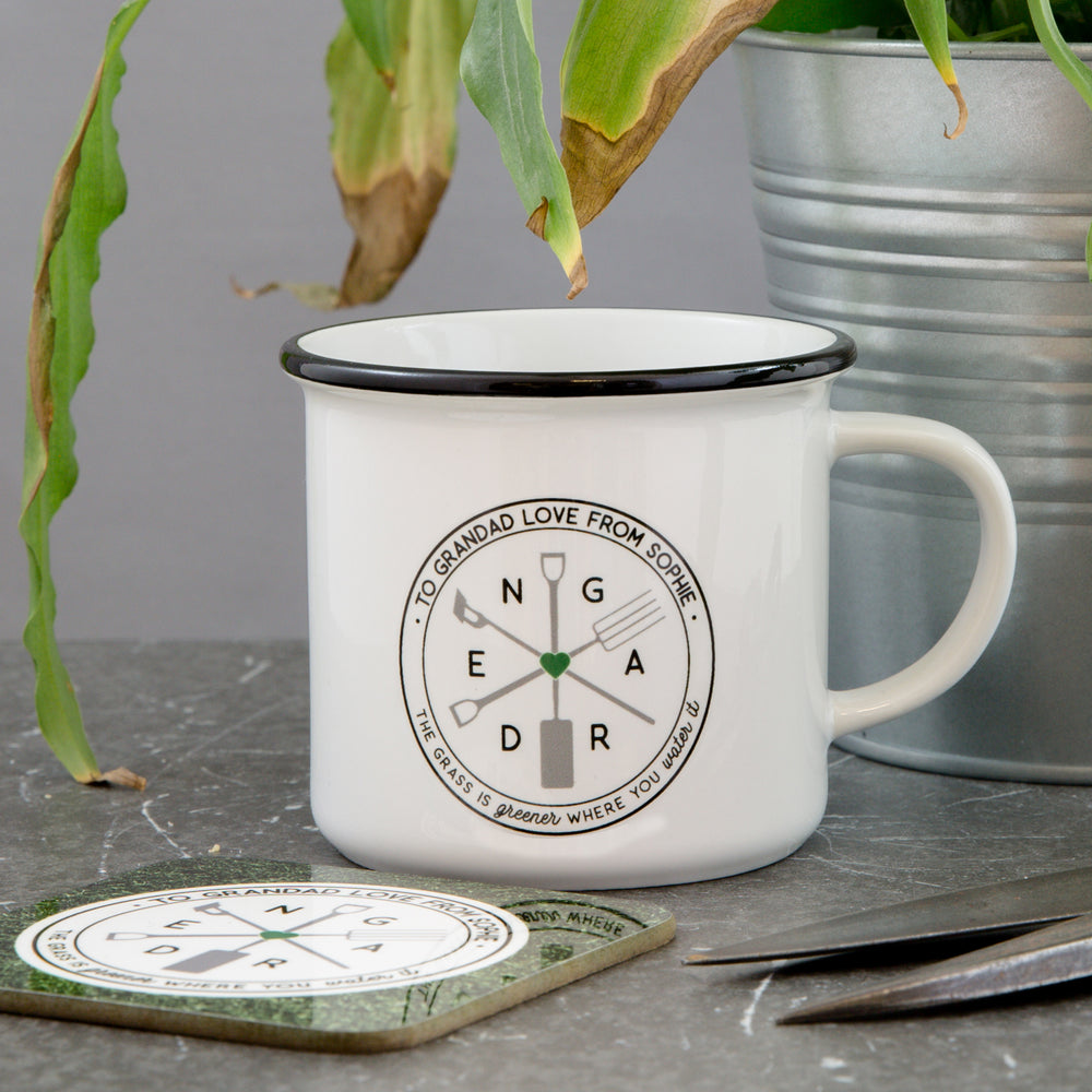 Personalised gift for gardener vintage camping mug| Not Just a Print ...
