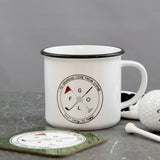 Golf Lover Gift - Don't Worry Tee Happy' Golfing Pun Mug - Ideal Gift For Him