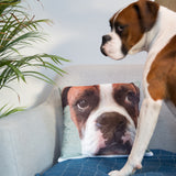 Your Face Or Mine - Fun Face Photograph Portrait Cushion - Unique Funny Secret Santa Or Stocking Filler