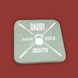 Crossfitter personalised gym crest - gym club design coaster - fun stocking filler for him dad brother