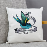 Tattoo Inpsired Homewares - Swallow True Love Tattoo Personalised - 2nd Wedding Anniversary Eternity Present