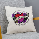 Contemporary Wedding Gift - Sugarskull Daisies And Heart Tattoo Design - Ideal 2nd Or 4th Anniversary Gift