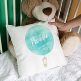 Nursery Accessory - Watercolour Ballon And Bear Baby Print Personalised Weight And Date - Chirstening Gift