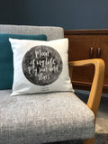 Favourite Song Lyrics, Quote or Message on Moon Design Printed Cushion - Anniversary, Valentine's, Birthday or Wedding Gift