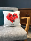 Heart Themed Any Words or Names Printed Cushion - Anniversary, Valentine's, Birthday or Wedding Gift