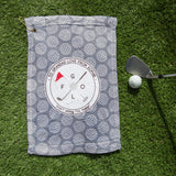 Golf Gift Personalised - Golf Towel With Name - Golf Lover Gift 'Don't Worry Tee Happy'