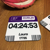 Dublin Marathon - Commemorative gift finishers gift - Race number Design