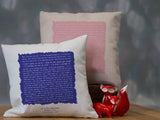 Song words, vows or speech printed cushion in vintage square design