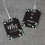 Newlywed Gift Or Honeymoon - Botanicals Themed Luggage Tags - Suitable For Mr & Mr, Mrs & Mrs, Mr & Mrs