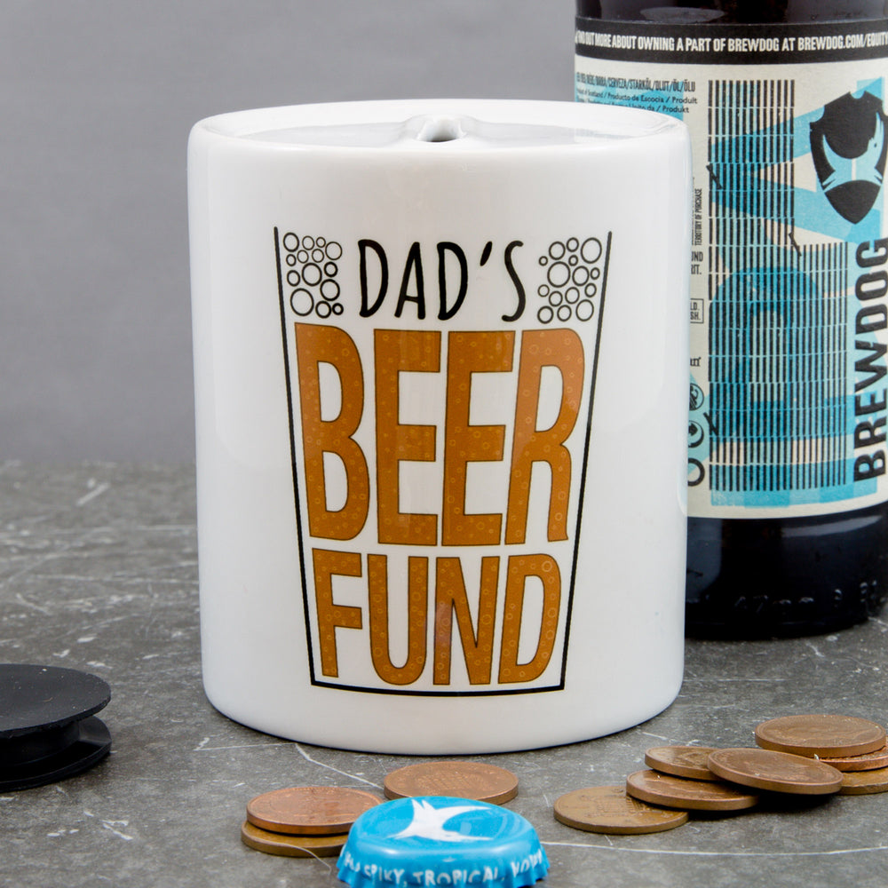 Fun Gift For Dad - Beer Fund Money Box - Ideal Stocking Filler Secret Santa Gift From Kids