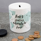 Adventure Themed Money Box - Fund For Wanderlust Traveller - Travel Adventures Saving Jar Piggy Bank