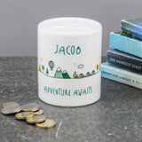 Kids Birthday Gift - Mountain Adventure Fund Money Box - Ideal New Baby Or Christening Present