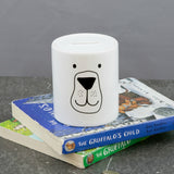Children's Birthday Present - Bear Cub Honey Pot Money Box - Modern Nursery