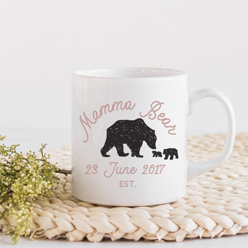 "Mammy Bear Mug - Customise number Cubs and your version of ""Mama"" - Mother's Day Gift"