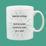 Personalised World's Best English Teacher Gift