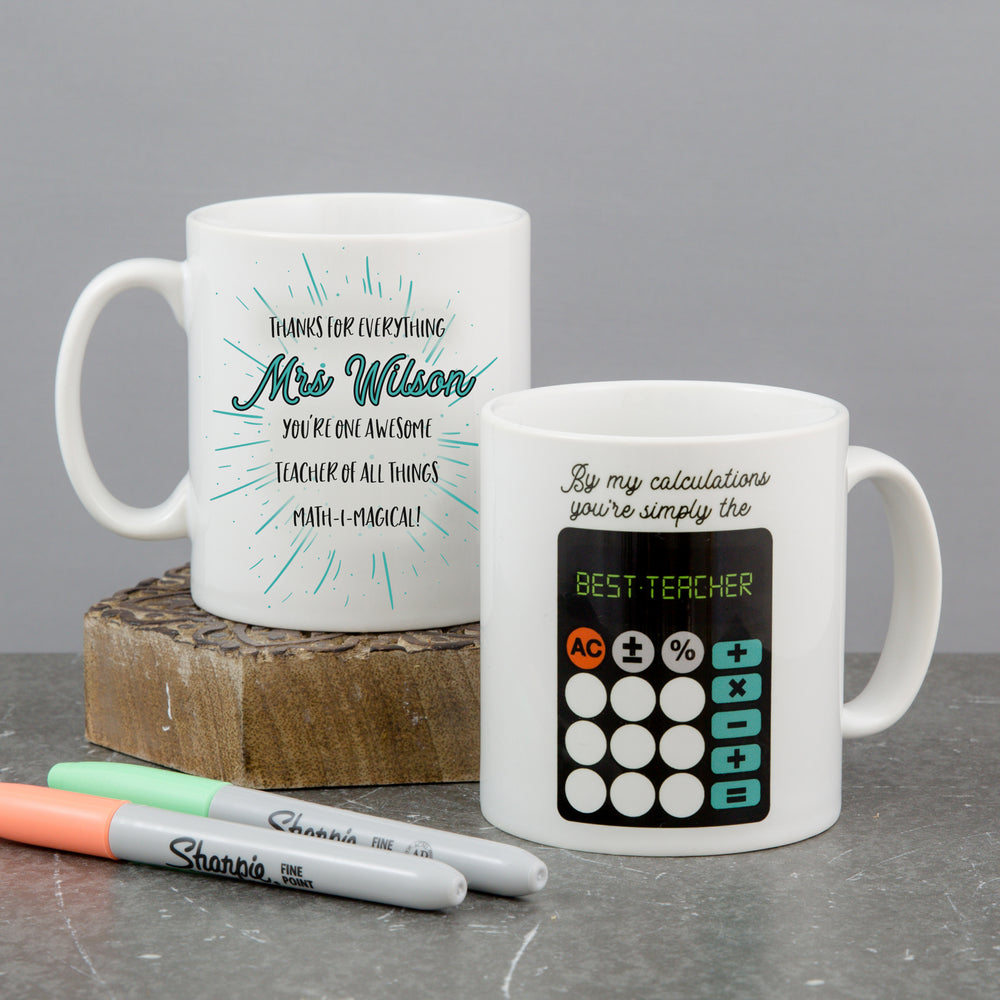 Personalised World's Best Maths Teacher Gift
