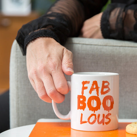 Halloween Fun Homeware Gift - Personalised Faboolus Coffee, Tea, Hot Chocolate Mug - Under £10