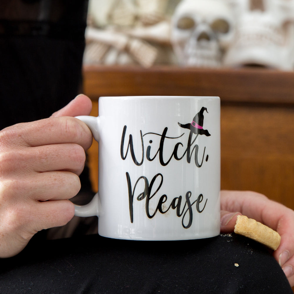 Sarcasm Mug Funny Halloween Gift - Witch, Please Personalised Print - Secret Santa Present For Her Under £10