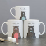 Bear Family Mug Set - Fun Mummy Daddy Baby Bear New Home Gift - Mama Papa Toddler Christmas Eve Present