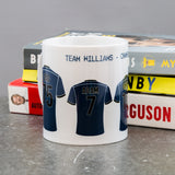 Family Line Up In Football Strips - Any Team Colours Locker Room Design - Custom Gift For Dad Or Family
