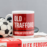 Football Stadium Street Sign Or Other Custom Club Location - Mug In Team Colours - Personalised Sport Gift
