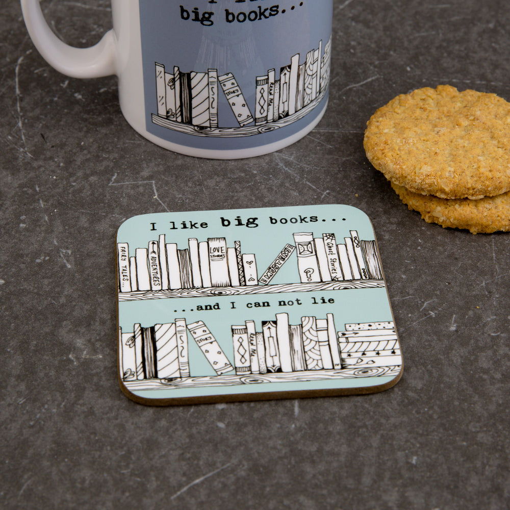 Reading Mug - I Like Big Books And I Cannot Lie Motif - Secret Santa Ideal Gift For Her